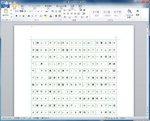 Word2010で原稿用紙設定をしたところ
