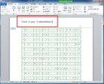 フィールドコードが挿入され、かつAlt+F9にてコードを表示しているところ