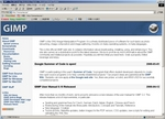 GIMPのWebサイト