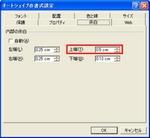 Excelのオートシェイプの書式設定画面